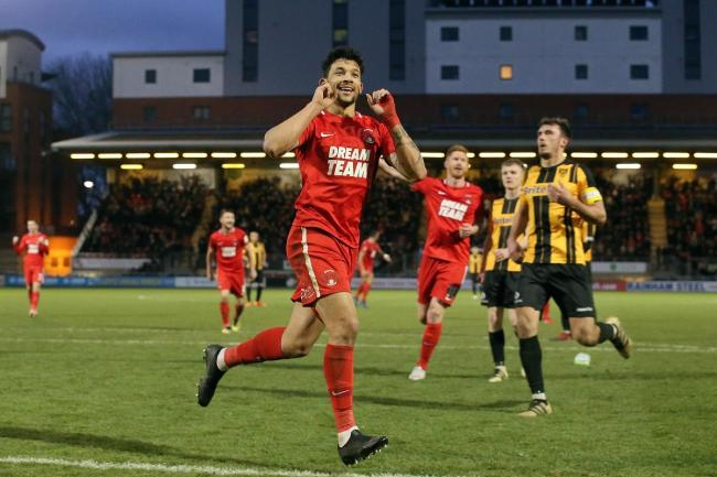 Goal king - former Colchester United striker Macauley Bonne celebrates scoring for Leyton Orient Picture: SIMON O'CONNOR