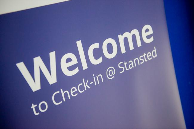 Check-in at Stansted