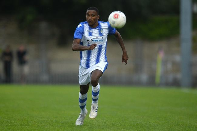 Great talent: Jevani Brown in pre-season action at Dulwich Hamlet. Picture: Richard Blaxall www.richardblaxall.co.uk