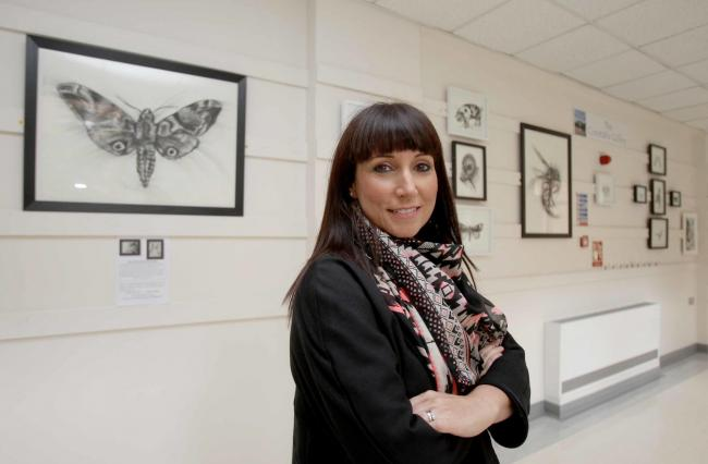 Guidance - Claire Gillen at the Colne Gallery, she has just completed art therapy training