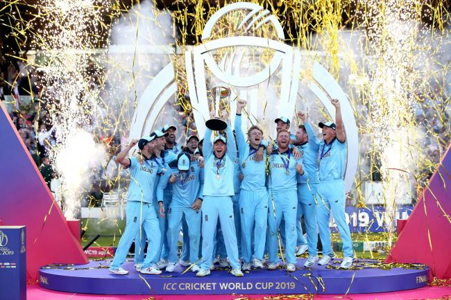 Euphoria - England celebrate after winning the Cricket World Cup final in dramatic fashion