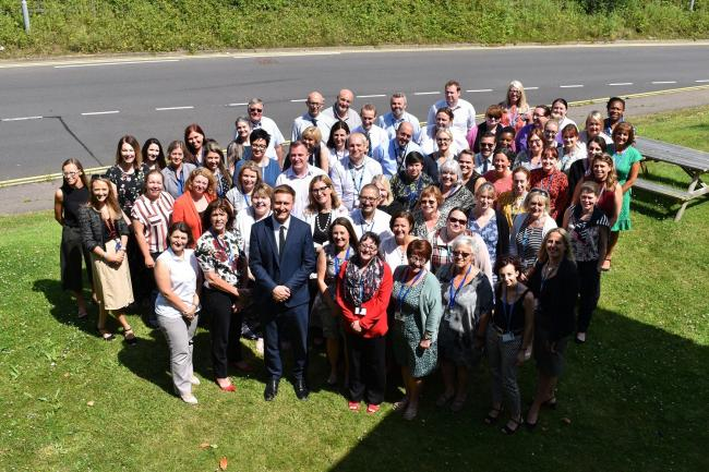 Hooray - North East Essex CCG staff celebrate the outstanding rating