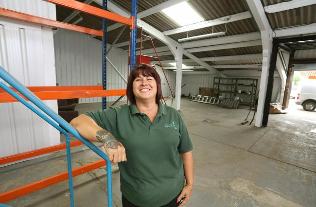 Grateful - Amanda Day, warehouse supervisor for Colchester Foodbank in their new storage warehouse in Langham