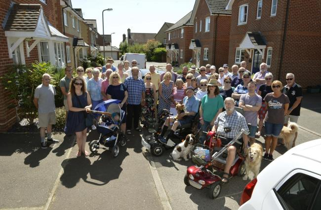 Campaign - West Bergholt residents were against plans for more large developments