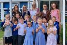 Celebrating - Staff and students at Monkwick Infant School and Nursery