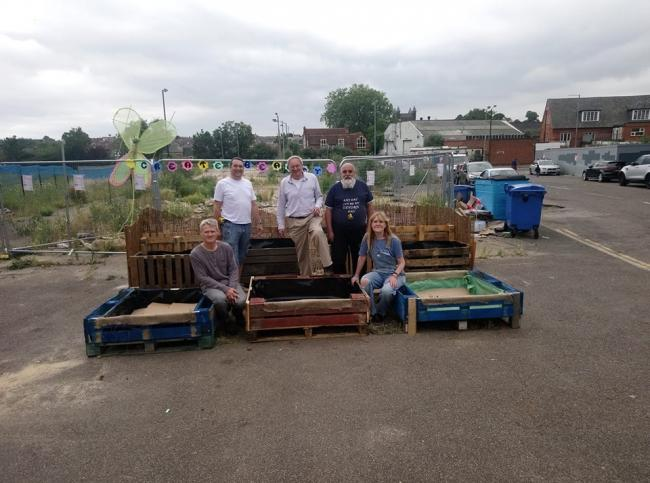Spruce - members of Community Voice Colchester created the new community garden off Queen Street