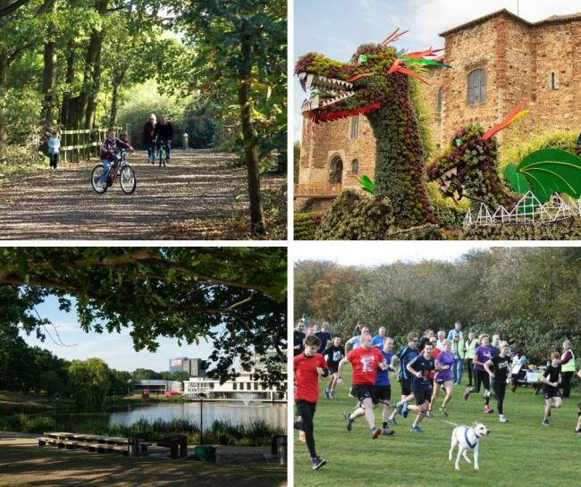 High Woods Country Park, Castle Park, Wivenhoe Park and Cudmore Grove all won awards
