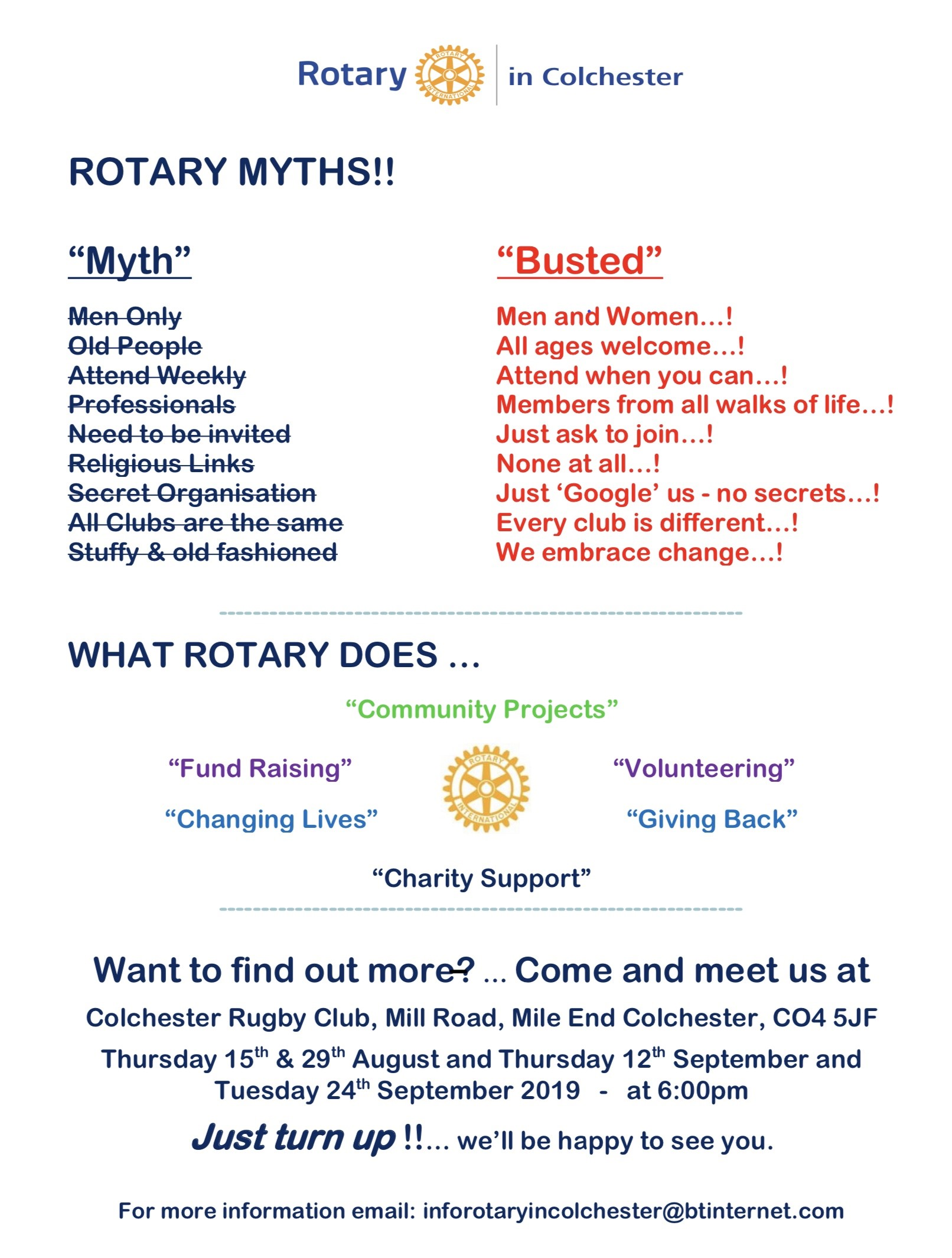 New Rotary Club for Colchester