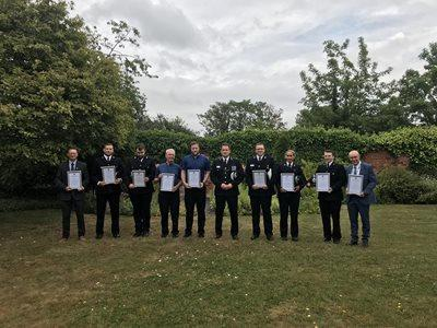 Nine people were commended by BJ Harrington on Friday