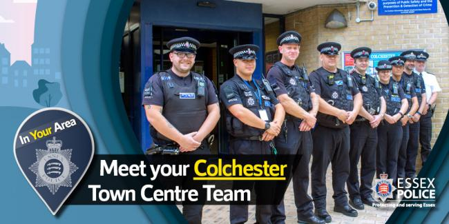 Reinforced - the town centre policing team for Colchester