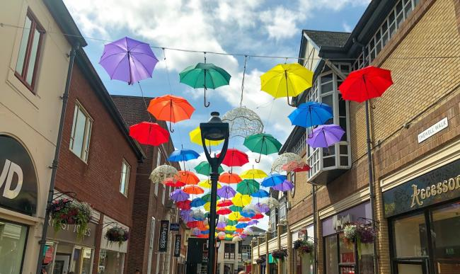 Image result for colchester gazette culver square umbrellas