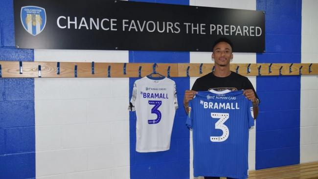 New signing - Cohan Bramall Picture: Colchester United Football Club