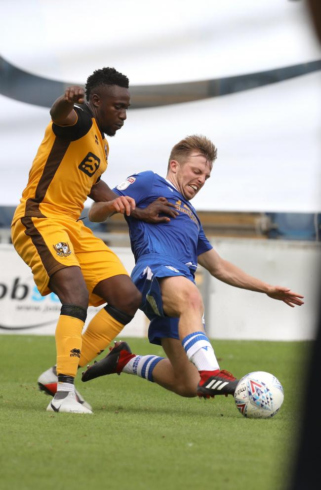 Foot in - Colchester United midfielder Tom Lapslie in action during his side's 1-1 draw with Port Vale Picture: STEVE BRADING