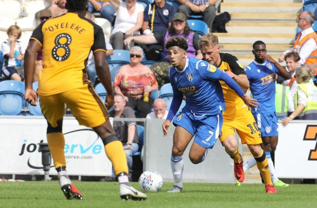 Skill - Colchester United's Courtney Senior embarks on an attacking run against Port Vale Picture: STEVE BRADING