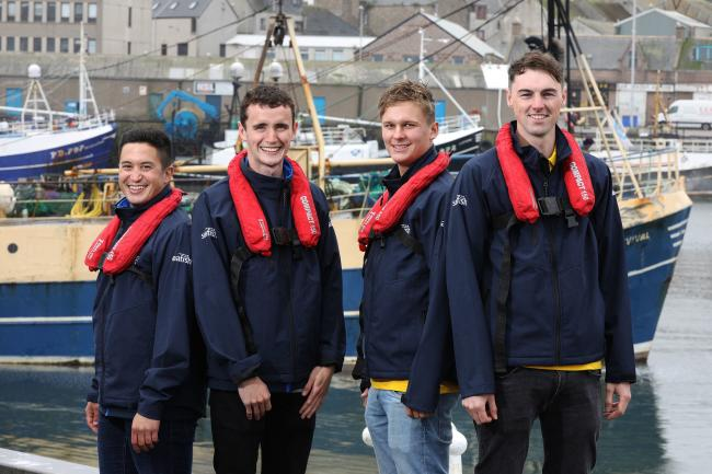 Seafish's Fleet Survey Researchers - Juan Carlos Paredes Esclapez, Ross Blakemore, Oscar Wilkie and Joe Cooper
