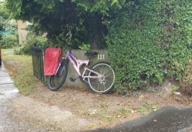 Found - the stolen bike and red top in New Farm Road
