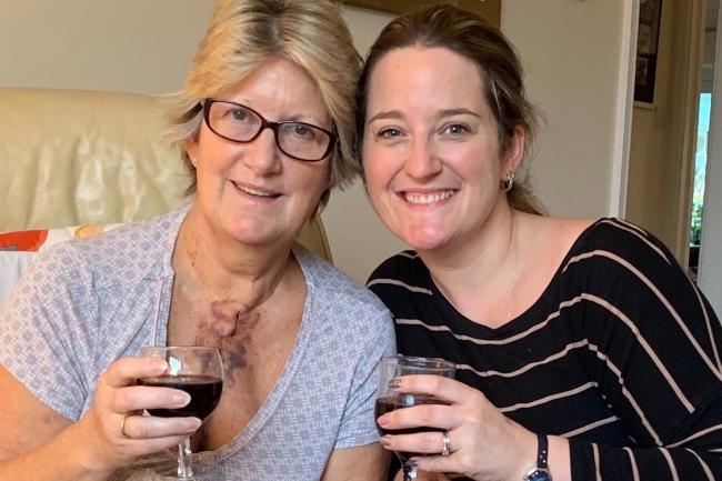 Family - Sandra Wrathall, who has a rare heart condition, with