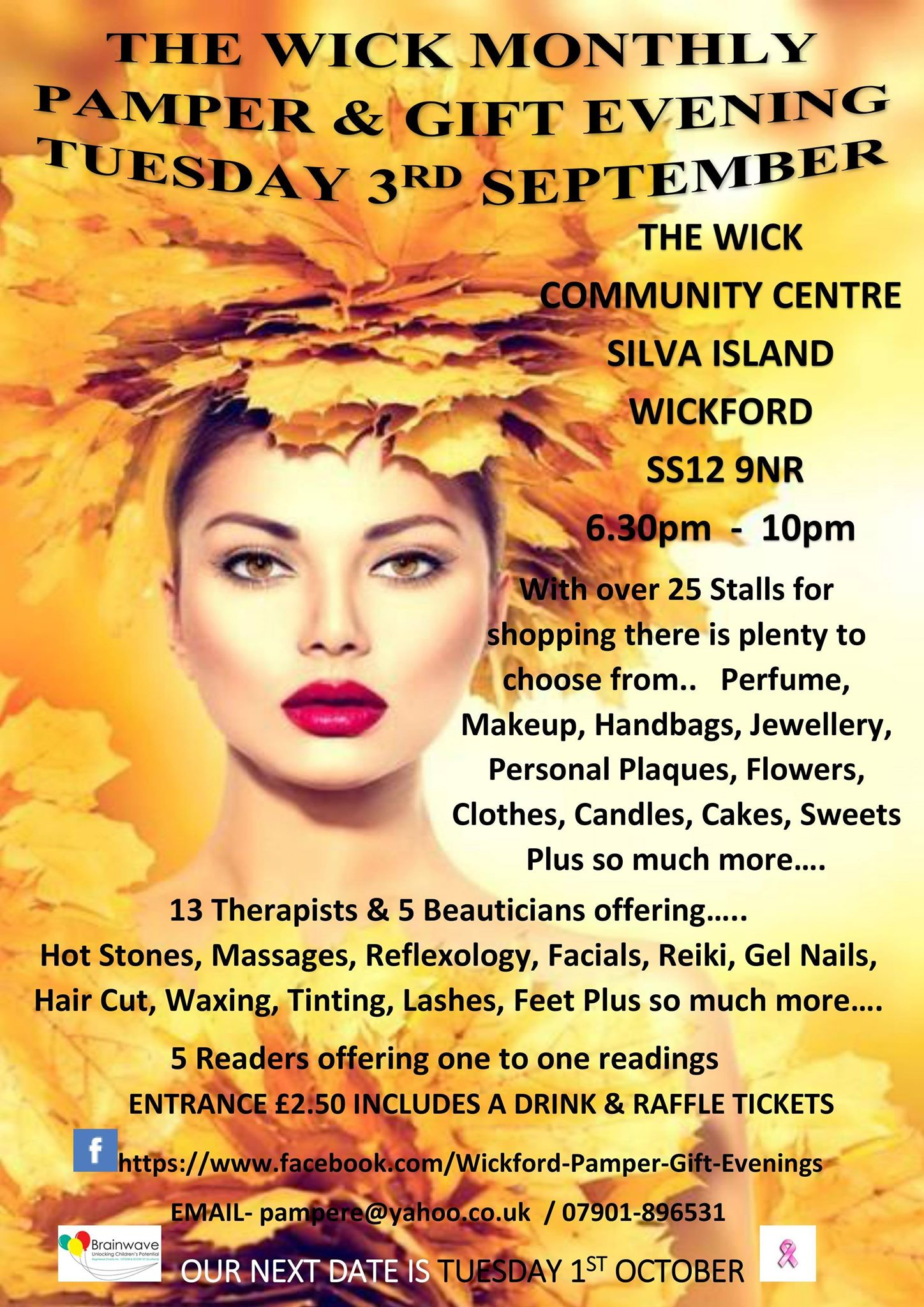 wickford pamper  & gift evening