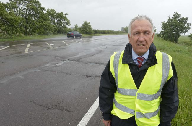 Ivan Henderson, concerned about the condition of the A120 from the Wix turn off up to Horseley Cross..