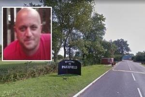 No charges - the Pontins holiday park where Paul Gladwell was taken ill and (inset) Paul Gladwell