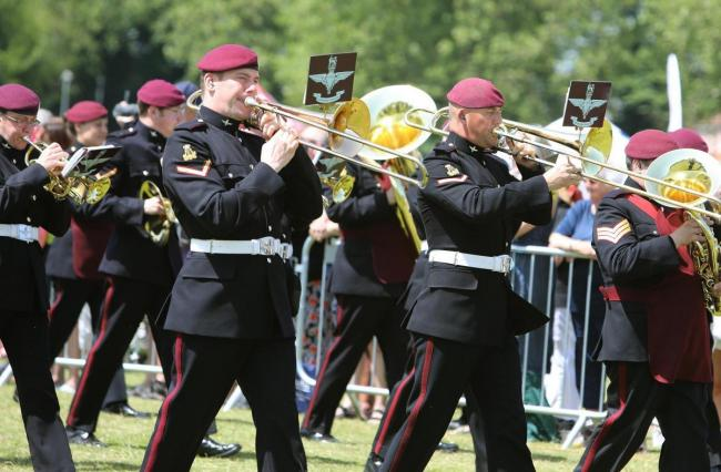 The Band of the Parachute Regiment at this year's Garrison Show