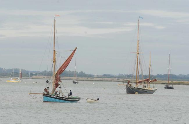 (general picture of boats at Mersea)