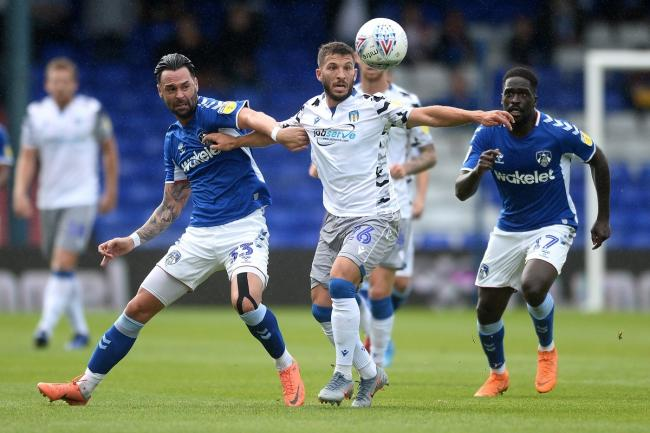On the ball - Colchester United attacker Luke Gambin in action against Oldham Athletic Picture: RICHARD BLAXALL