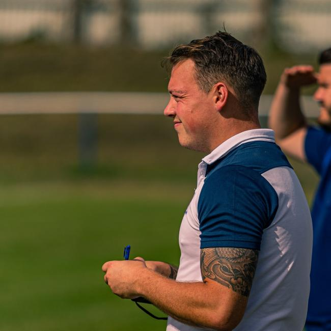 FC Clacton manager Tom Austin. Picture: Rob Smith/RJS Photography
