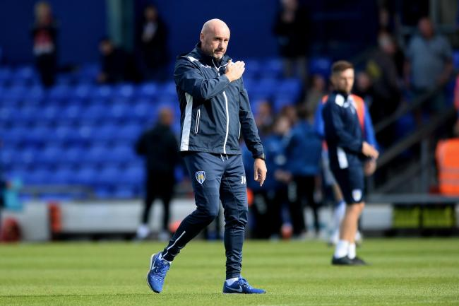 Colchester United Manager John McGreal at the final whistle - Oldham Athletic vs. Colchester United - Sky Bet League Two - Boundary Park, Oldham - 30/08/2019 - Photo by: Richard Blaxall.