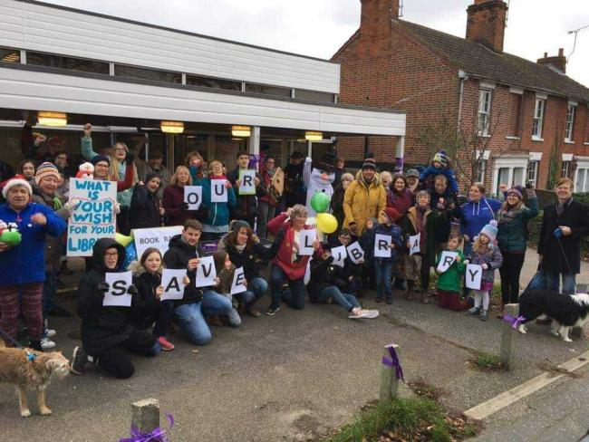 Campaigning - the Save Wivenhoe Library group
