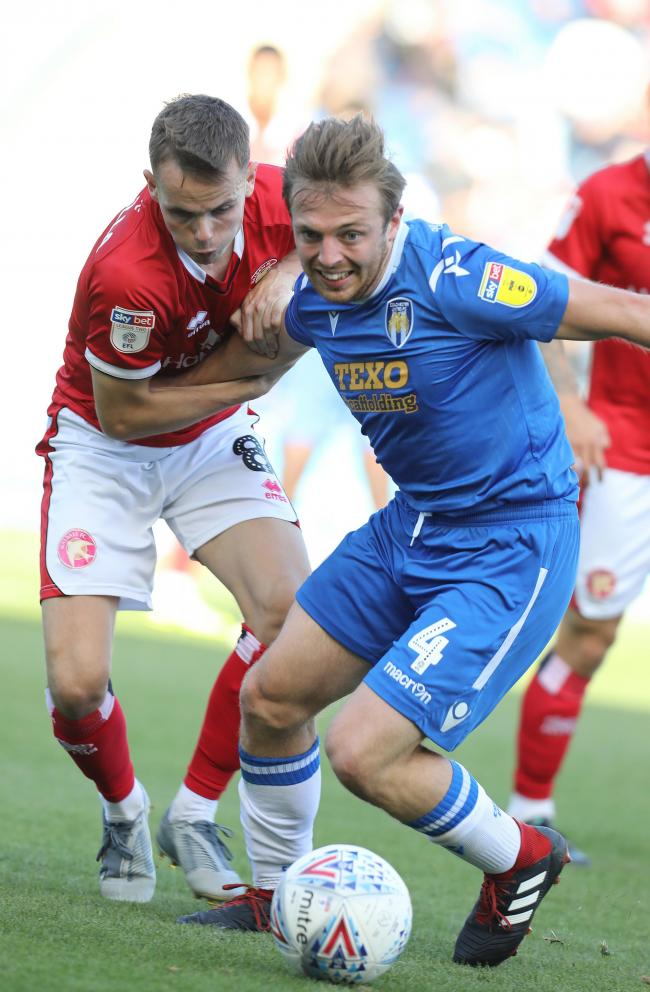 Return - Colchester United midfielder Tom Lapslie returned from injury against Walsall Picture: STEVE BRADING