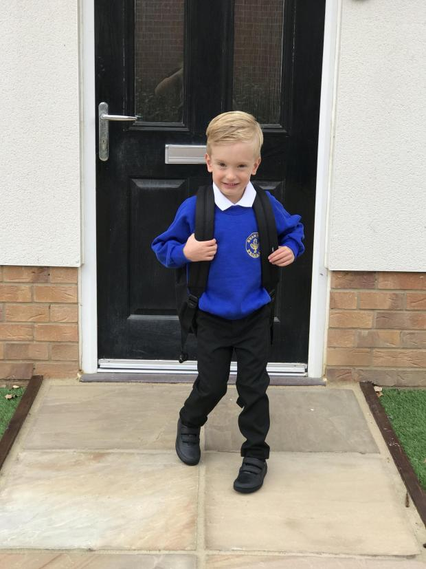 Gazette: Roman on his first day of school