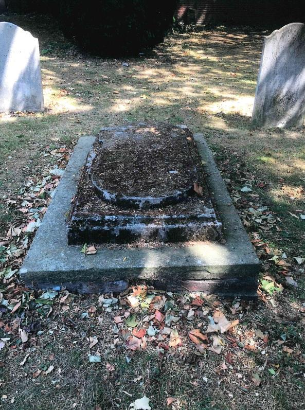 Gazette: Jesse Jones' grave in the grounds of St Botolph's Priory