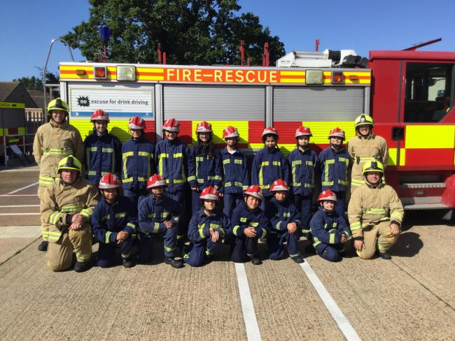Skills - a group of Syrian and African refugees learned new skills at a Firebreak course