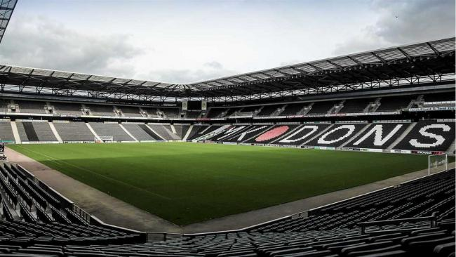 Town fans were out in force at Stadium MK on Tuesday night