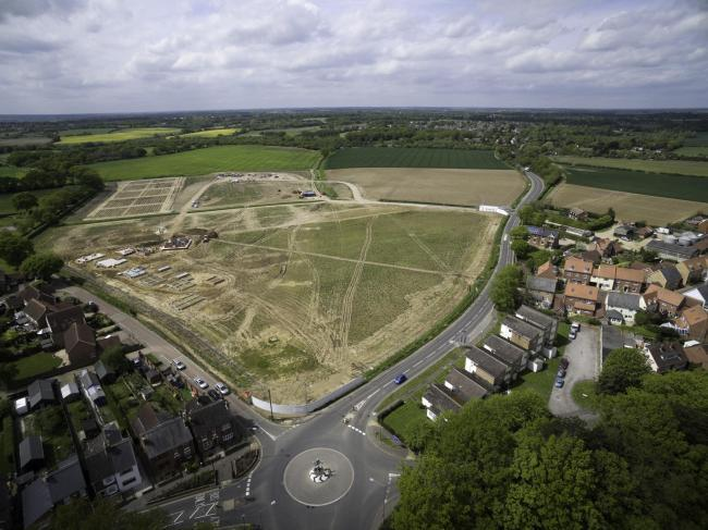 Land - the Chesterwell development where the new school will be built