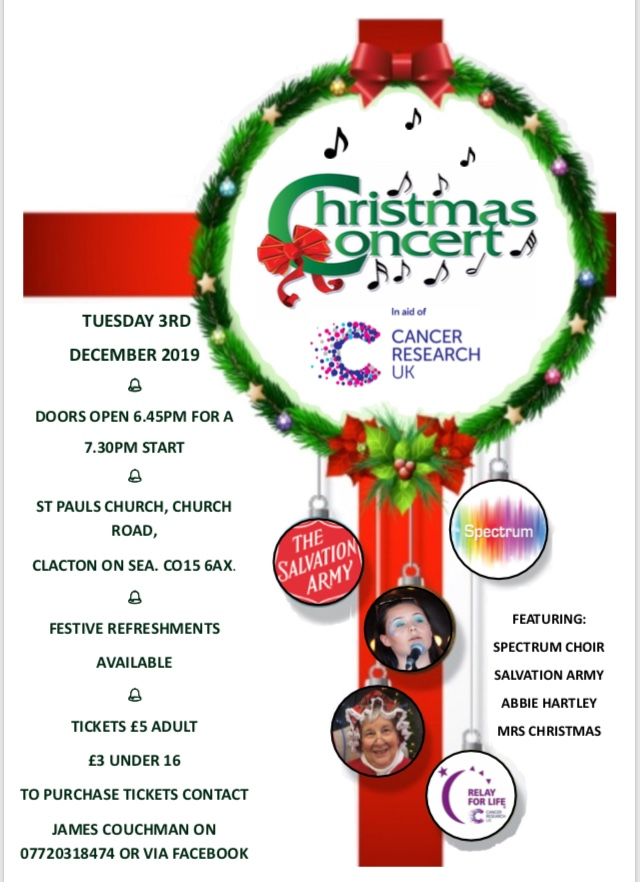 Clacton Relay for Life Charity Christmas Concert