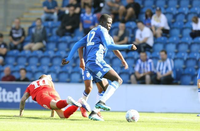 In the running - Brendan Wiredu could start for Colchester United against Spurs under-21s tonight Picture by STEVE BRADING