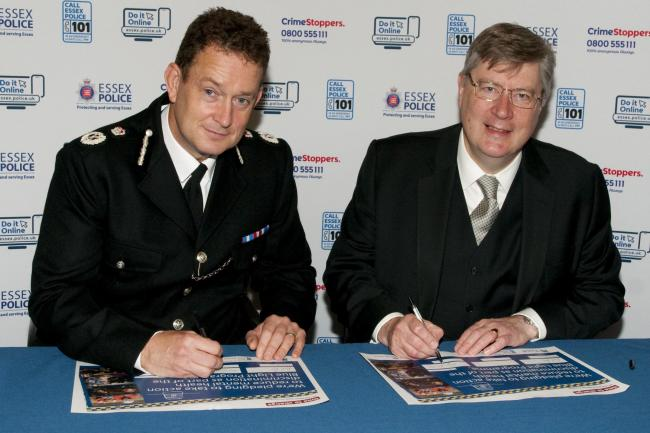 Pledge - Chief Constable Ben-Julian (BJ) Harrington and Police, Fire and Crime Commissioner Roger Hirst