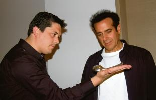 Magical moment – Michael J Fitch with David Copperfield and, inset, the private museum of magic