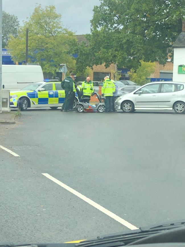 Scene - crash on the junction between Parsons Heath and Harwich Road, Colchester