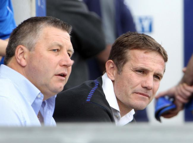 New challenge - ex-Colchester United manager Phil Parkinson (right) pictured with his former U's assistant Geraint Williams