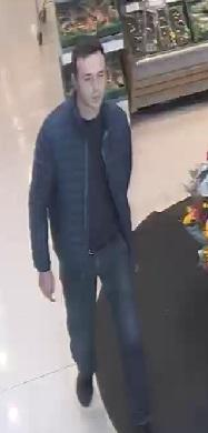 Police are looking for this man after an elderly woman's purse was stolen