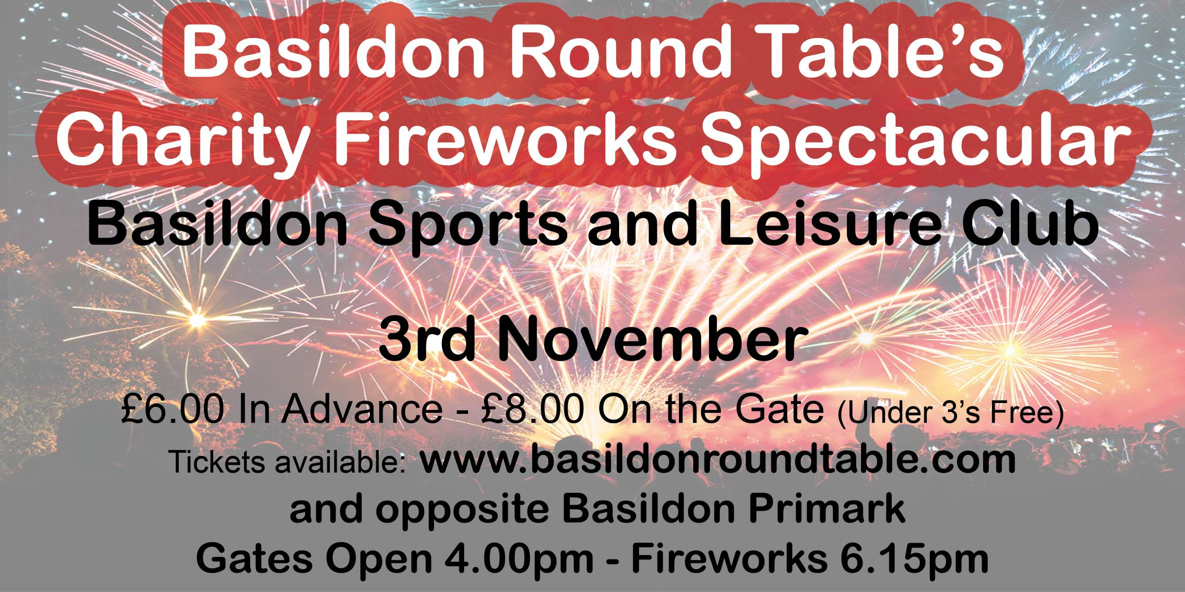 Basildon Round Table's Charity Fireworks Spectacualr 2019
