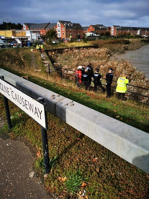 False alarm as police and coastguard pull tent from river