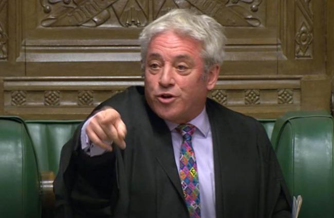 Firm - Speaker John Bercow  Picture: House of Commons/PA Wire