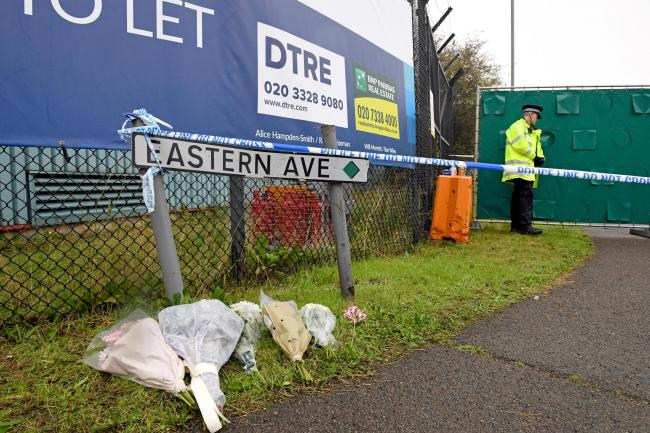 Tributes laid in Eastern Avenue, Grays, where the bodies were found