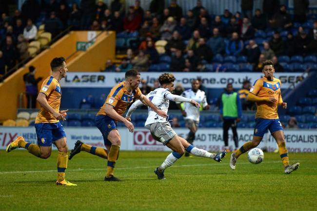 Hot shot - Colchester United winger Courtney Senior scores at Mansfield Town Picture: RICHARD BLAXALL