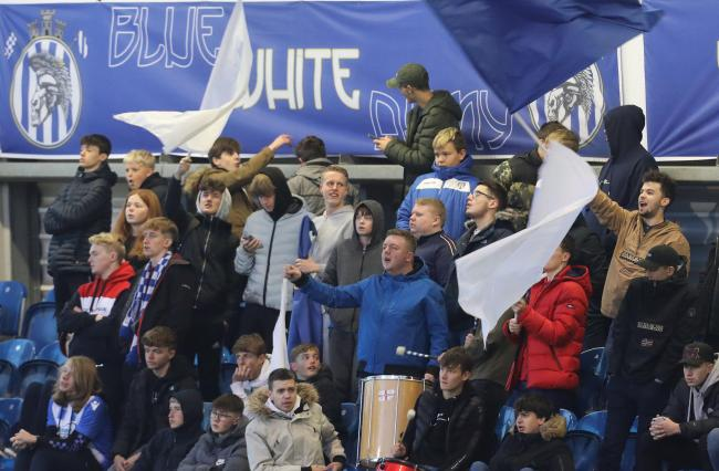 Great support - Colchester United's fans get behind their side against Coventry City Picture: STEVE BRADING