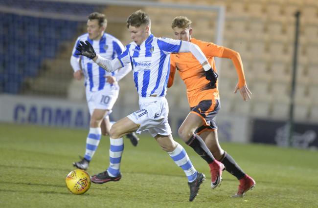 Promise - Ollie Sims in action for Colchester United's under-18s Picture: STEVE BRADING